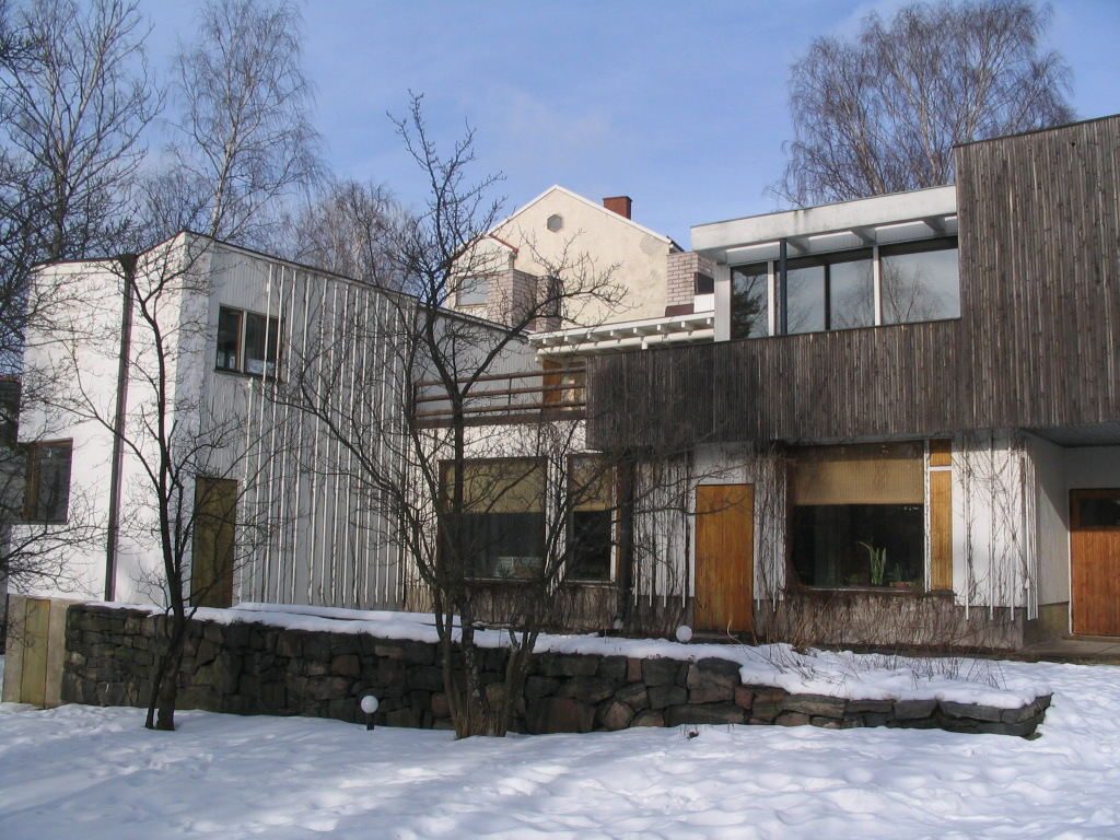 Europe 2009 february 25 aalto house munkkiniemi for The aalto house